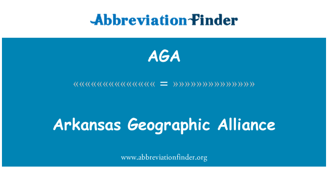 AGA: Arkansas Geographic Alliance