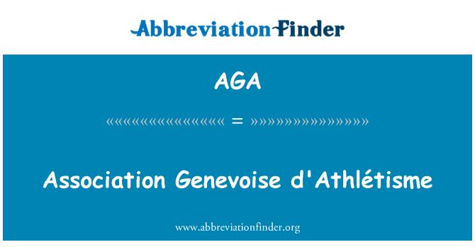 AGA: Association Genevoise d'Athlétisme