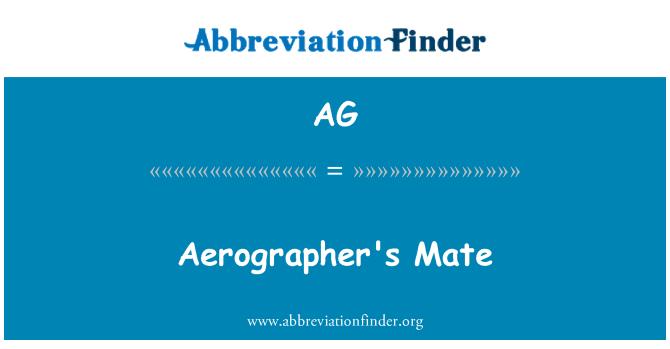 AG: Aerographer's Mate