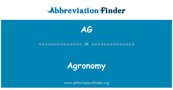 AG: Agronomy