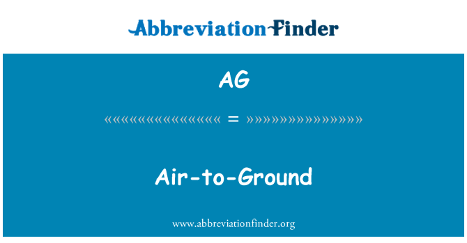 AG: Air-to-Ground