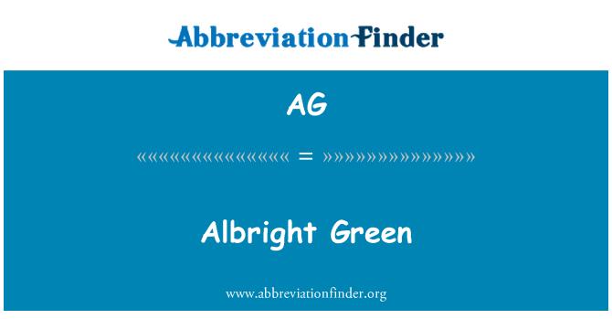 AG: Albright Green
