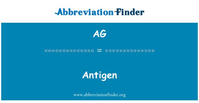 AG: Antigen