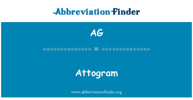 AG: Attogram