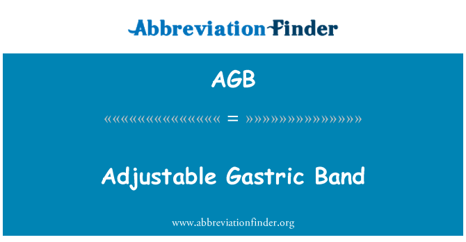 AGB: Adjustable Gastric Band