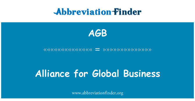 AGB: Alliance for Global Business