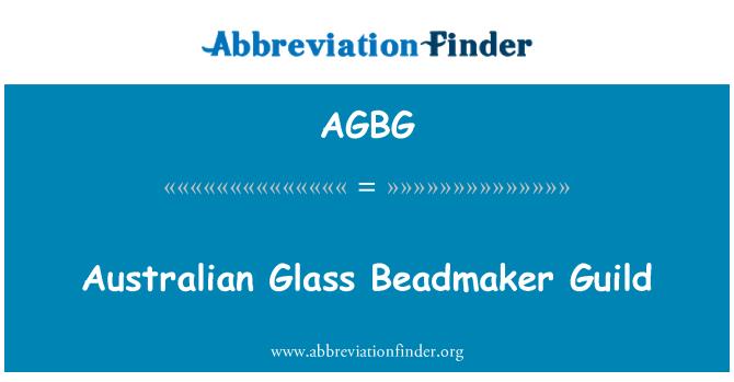 AGBG: Cristal australiano Beadmaker Guild