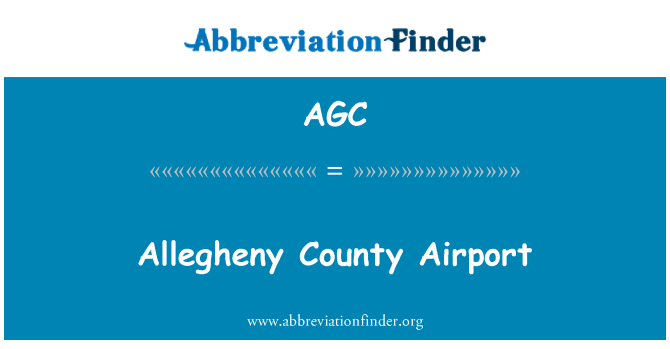 AGC: Allegheny County Airport
