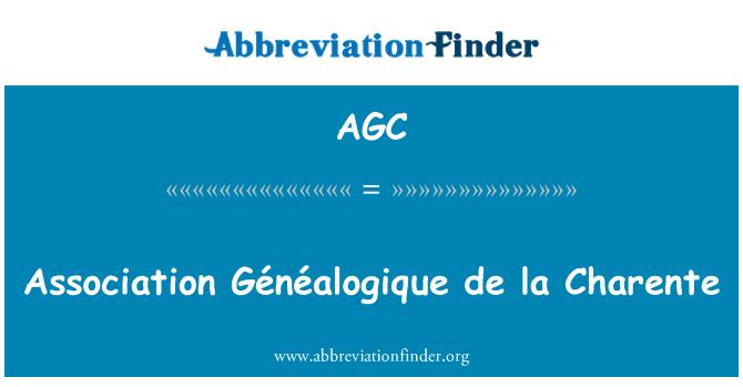 AGC: Association Généalogique de la Charente