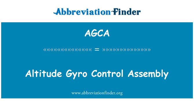 AGCA: Kõrgus Güro kontrolli koost
