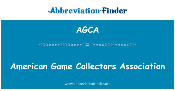 AGCA: Persatuan Amerika Syarikat pengumpul Permainan