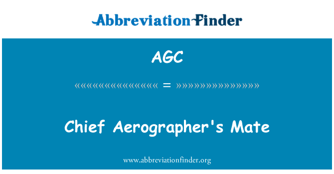AGC: Chief Aerographer's Mate