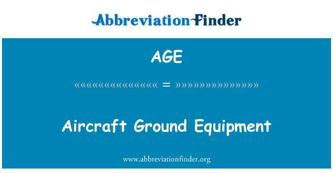 AGE: Aircraft Ground Equipment