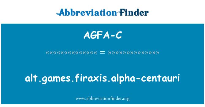 AGFA-C: alt.games.firaxis.alpha-centauri