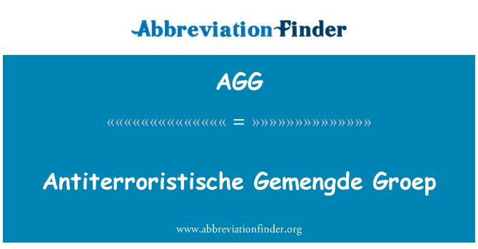 AGG: Antiterroristische Gemengde Groep