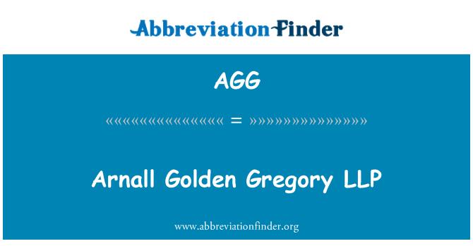 AGG: Arnall Golden Gregory LLP