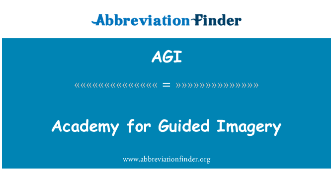 AGI: Academy for Guided Imagery