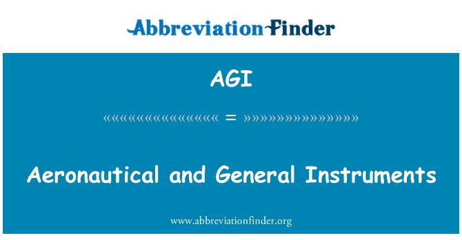 AGI: Aeronautical and General Instruments