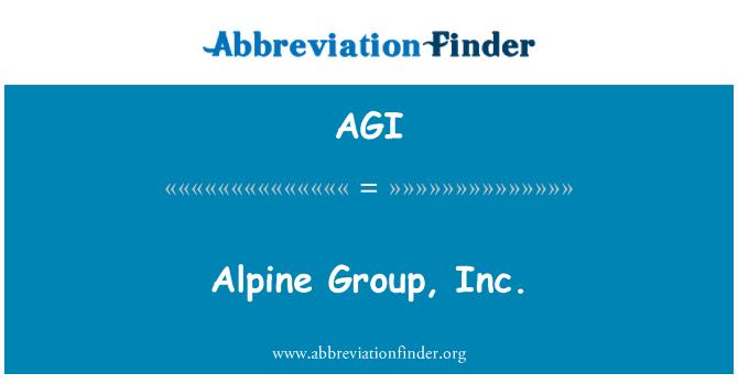 AGI: Alpine Group, Inc.