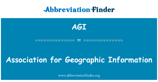 AGI: Association for Geographic Information
