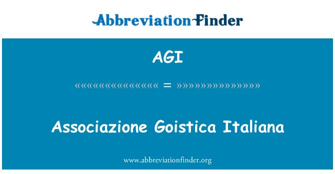 AGI: Associazione Goistica Italiana