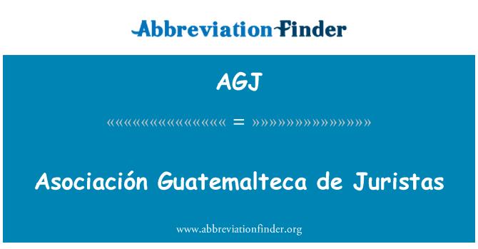AGJ: Asociación Guatemalteca de Juristas