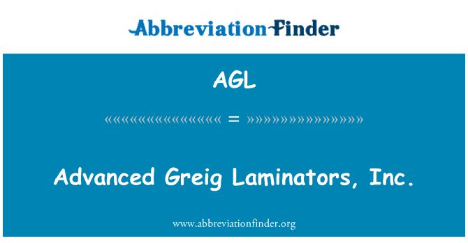 AGL: Advanced Greig Laminators, Inc.