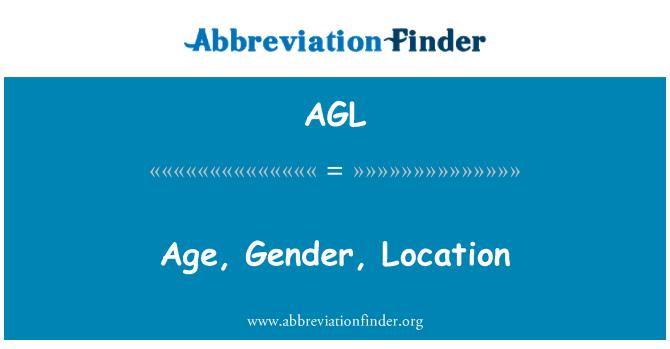 AGL: Age, Gender, Location