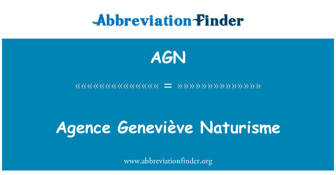 AGN: Agence Geneviève Naturisme