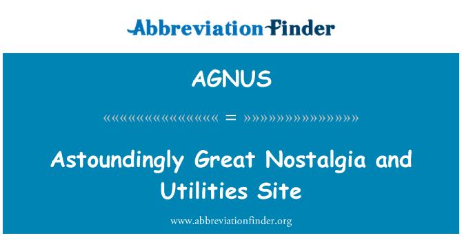 AGNUS: Astoundingly Great Nostalgia and Utilities Site