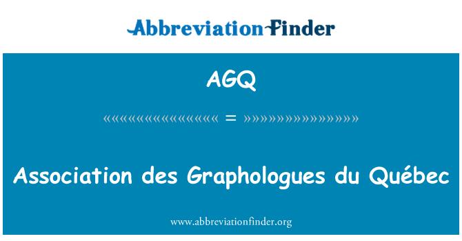 AGQ: Association des Graphologues du Québec