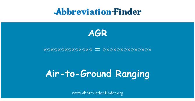 AGR: Air-to-Ground Ranging