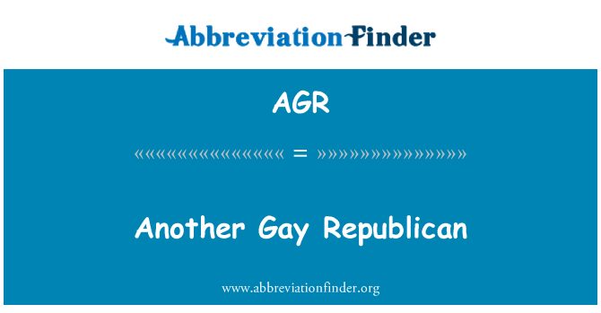 AGR: Another Gay Republican