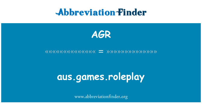 AGR: aus.games.roleplay
