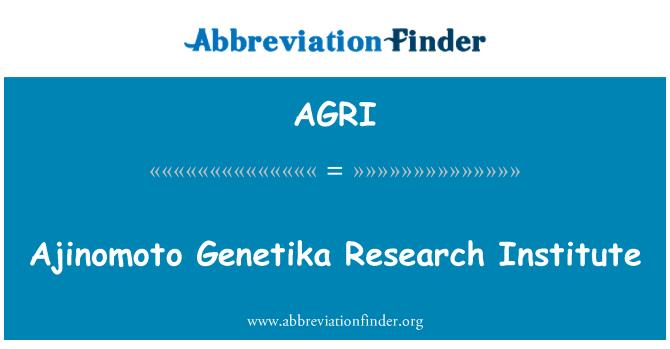 AGRI: Ajinomoto Genetika Research Institute