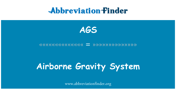 AGS: Airborne Gravity System