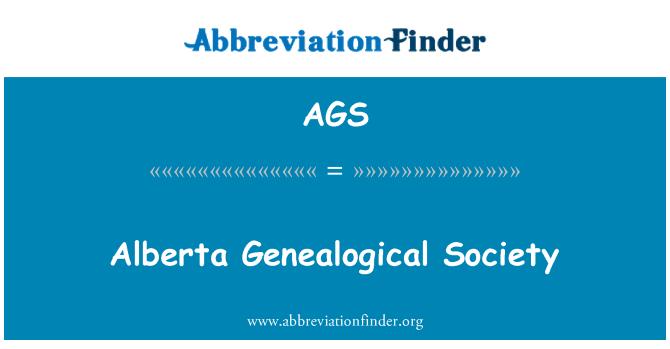 AGS: Alberta Genealogical Society