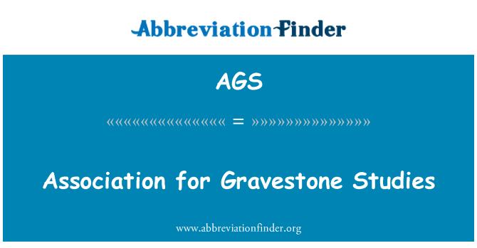 AGS: Association for Gravestone Studies