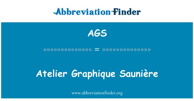 AGS: Atelier Graphique Saunière