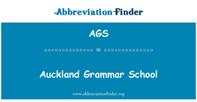 AGS: Auckland Grammar School