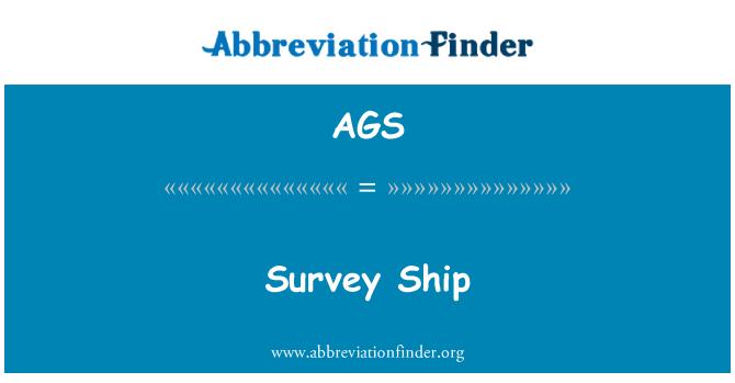 AGS: Survey Ship