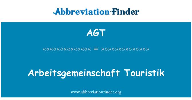 AGT: Arbeitsgemeinschaft Touristik