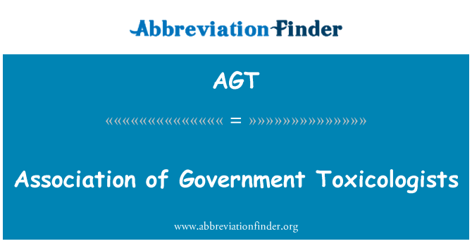 AGT: Association of Government Toxicologists