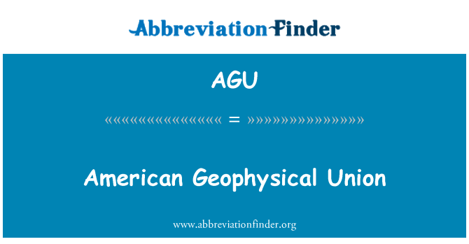 AGU: American Geophysical Union