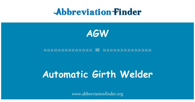 AGW: Automatic Girth Welder