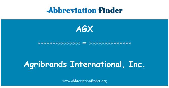 AGX: Agribrands International, Inc.