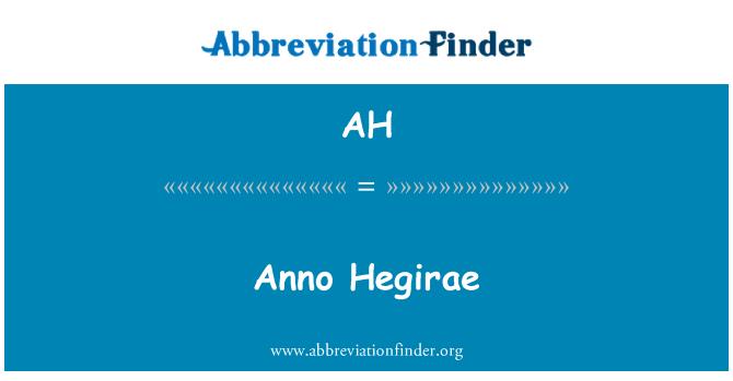 AH: Anno Hegirae