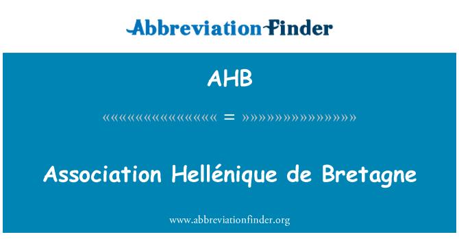 AHB: Association Hellénique de Bretagne