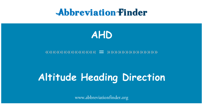 AHD: Altitude Heading Direction