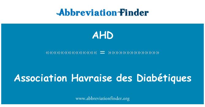 AHD: Association Havraise des Diabétiques